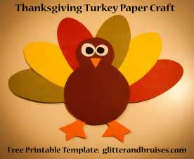 Thanksgiving Turkey Craft Template by Thanksgiving Turkey Paper Craft For Free Pdf Pattern