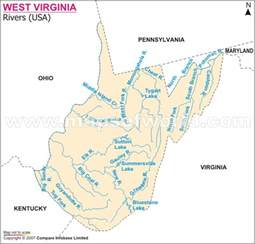 Map Of Virginia Rivers by West Virginia Map And West Virginia Satellite Images
