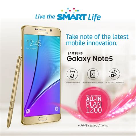 smart unveils postpaid plans for samsung galaxy note 5 and galaxy s6 edge plus