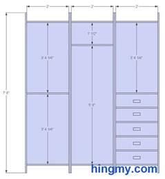 closet sizes standard winda 7 furniture