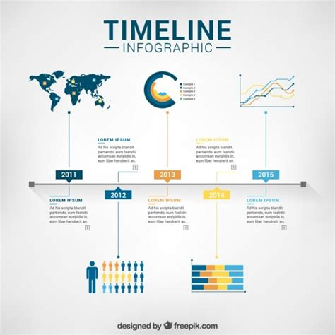 timeline infographic template vector premium download