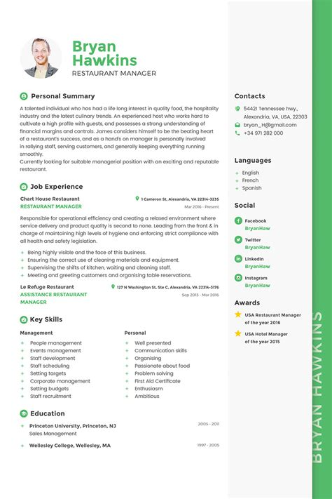 Manager Resume by 40 Best 2018 S Creative Resume Cv Templates Printable Doc
