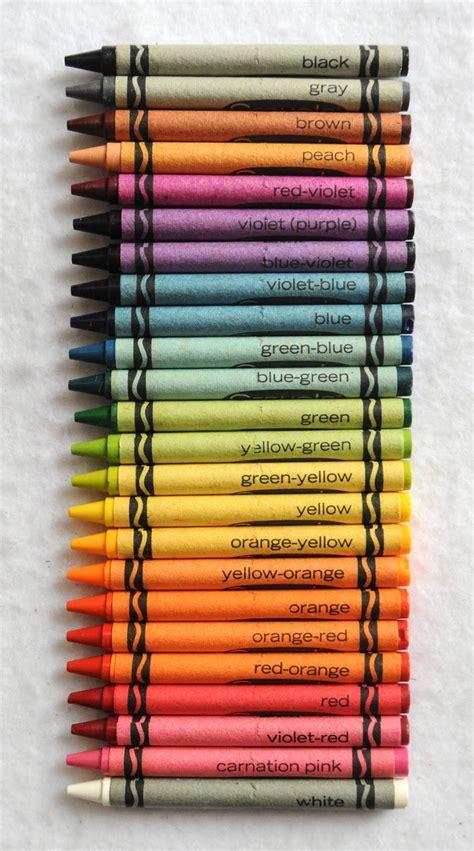 crayola crayon colors no 24 p crayola crayons what s inside the box s