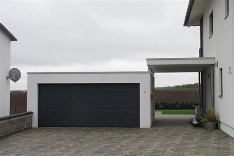 Fertiggarage Carport Kombination by Garagen Carport Kombinationen Ott Garagen