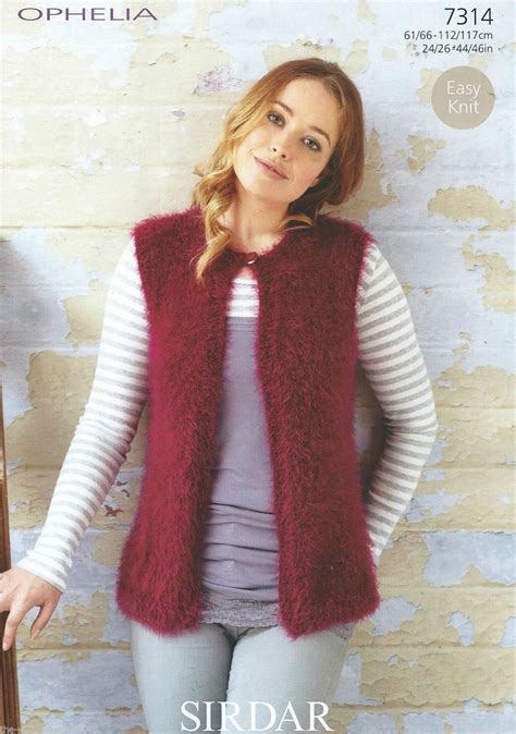 knitted gilet pattern 7314 sirdar ophelia chunky easy knit gilet knitting