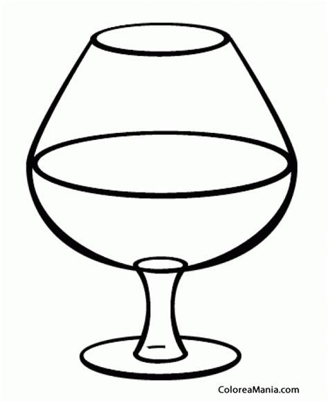 dibujos de bebidas para colorear colorear copa de coac bebidas dibujo para colorear gratis