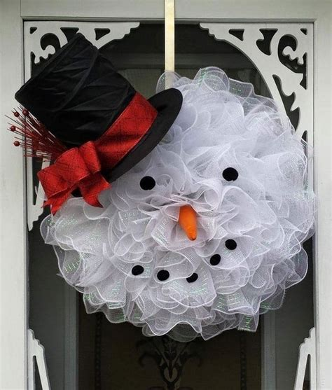 diy wreath ideas snowman wreath ideas how to make a gorgeous christmas wreath