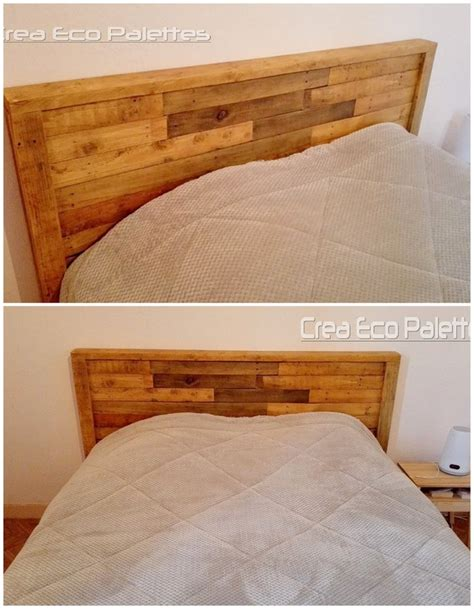 shipping pallet headboard inspired diy ideas with used shipping pallets pallet