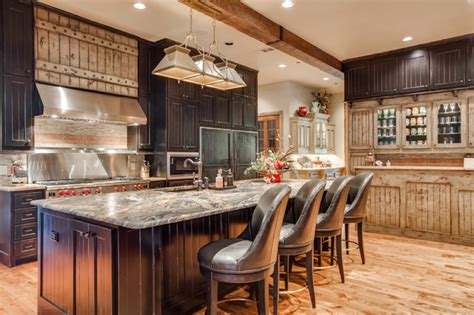 Knotty Oak Kitchen Cabinets rustic chic remodel rustic kitchen dallas by