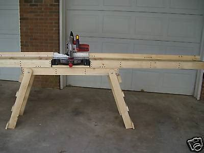 How To Build A Miter Saw Table by Miter Saw Stand Quot Build Your Own Quot How To Plans New Ebay