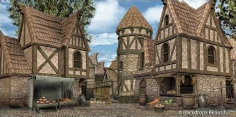 Home Scene Interiors by Backdrops Medieval Village 4
