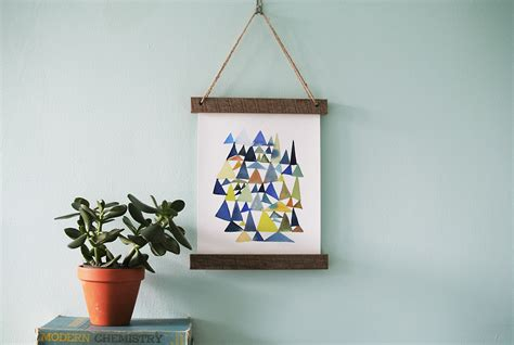 hang picture diy wooden slat hanging frame