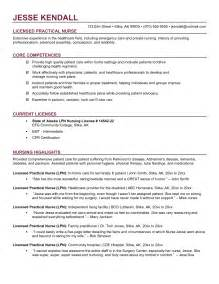 Exle Of Registered Resume by Lpn Travel Nursing Resume Sales Nursing Lewesmr