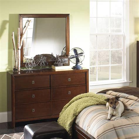 dreamfurniture albany dresser mirror in antique walnut