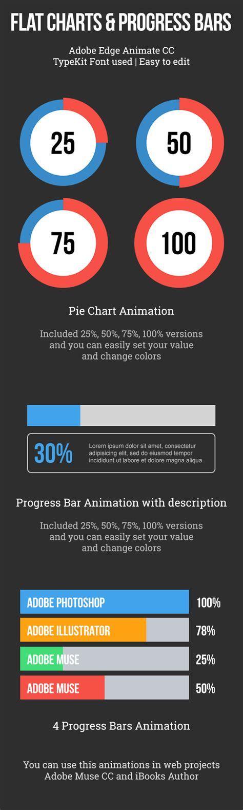 codecanyon templates flat pie charts and progress bars templates by vinyljunkie