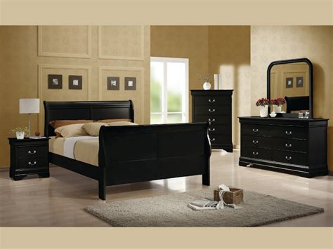 black full bedroom set louis philippe black full 4pc set