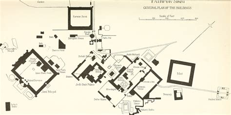 plan com file general plan of buildings fatehpur sikri 1917 jpg