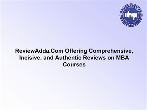 Mba Comprehensive Reviewer by Reviewadda Offering Comprehensive Incisive And
