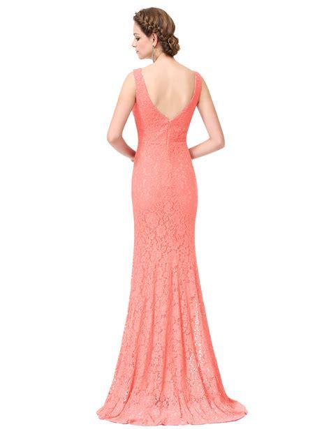 Longdress Brukat Mermaid womens lace mermaid bridesmaid dresses formal evening prom gown 08838