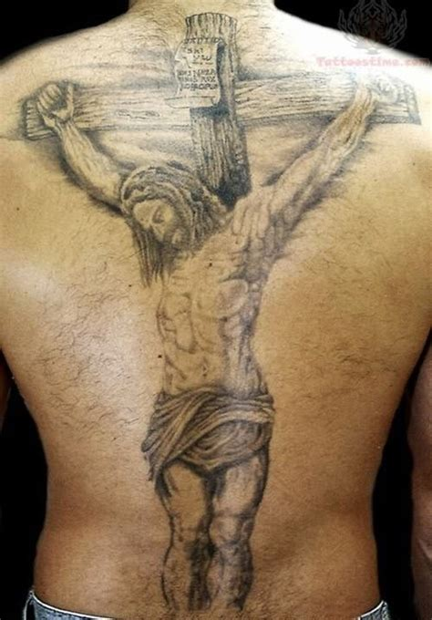 big cross tattoo large jesus and cross