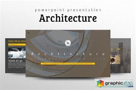 architecture ppt template 187 free download vector stock