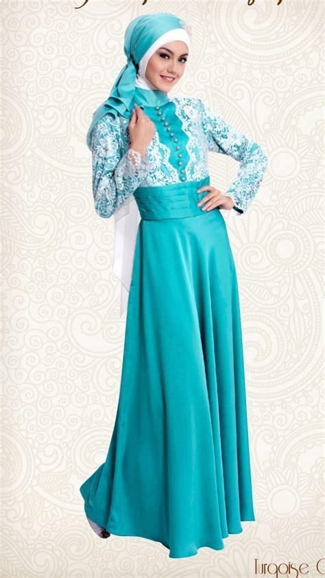 Baju Gaun Bahan Brukat Kombinasi Tile Ikat Pinggang Mutiara model baju gamis terbaru 2016 info terbaru 2016