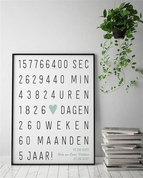 25 jaar getrouwd poster huwelijk jubileum poster gepersonaliseerde poster