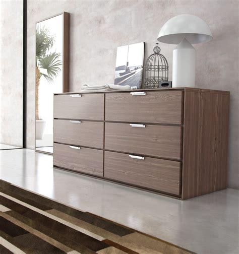 plywood 6 drawer modern dresser with chrome pull