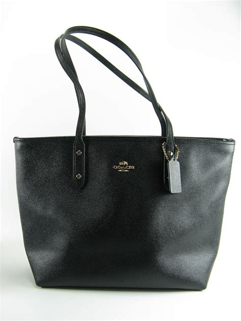 Coach City Tote F58846 Lapis nwt coach city zip tote handbag crossgrain leather in black f58846 295 ebay