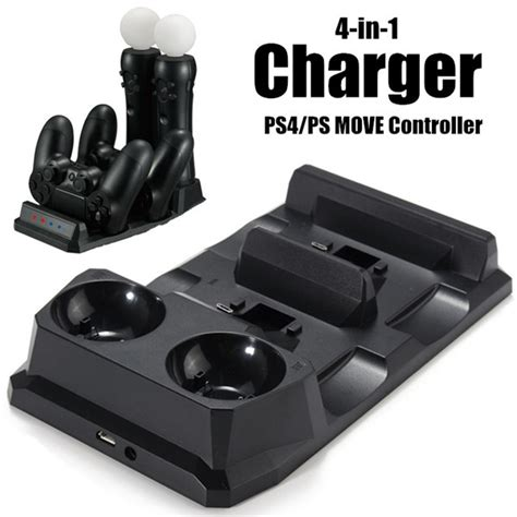 Ps4 Motion Vr With Stand Kaset Rabbids 4 in 1 controller charger dock station stand for