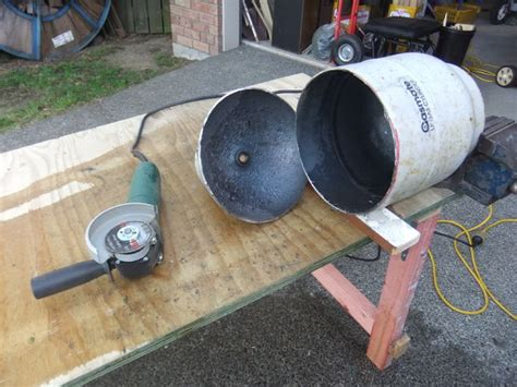 gas and wood pit gas bottle pit brazier barbeque grill do it