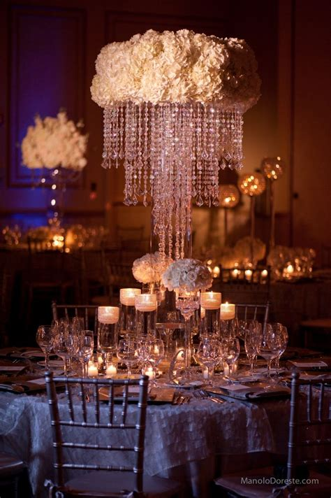 centerpiece idea with white hydrangeas and