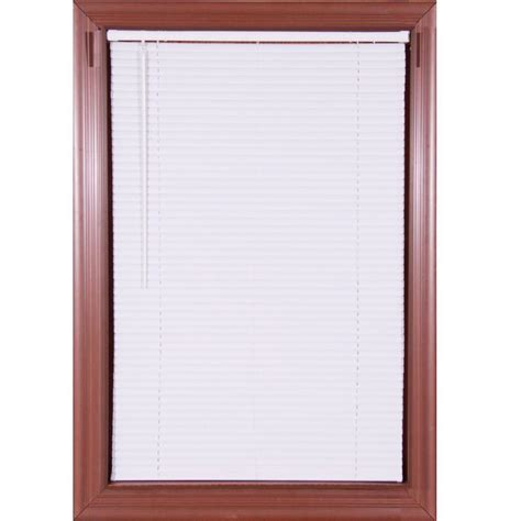white cordless 1 in vinyl mini blind 72 in w x 64 in