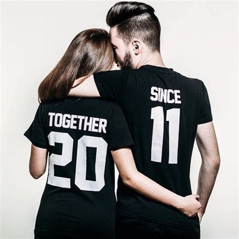 Customized T Shirts For Couples Any Number Price For 1 T Shirt Together Since T Shirt