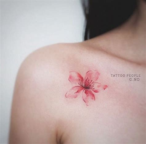 50 Cute Exles Of Cherry Blossom Tattoos For Creative Simple Cherry Blossom Back