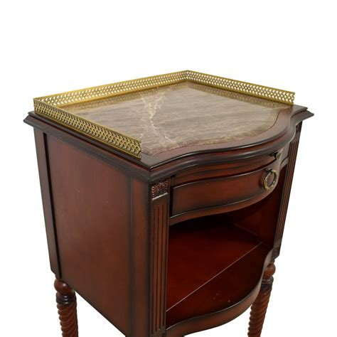 marble top accent tables 71 off bombay bombay marble top with gold trim wood