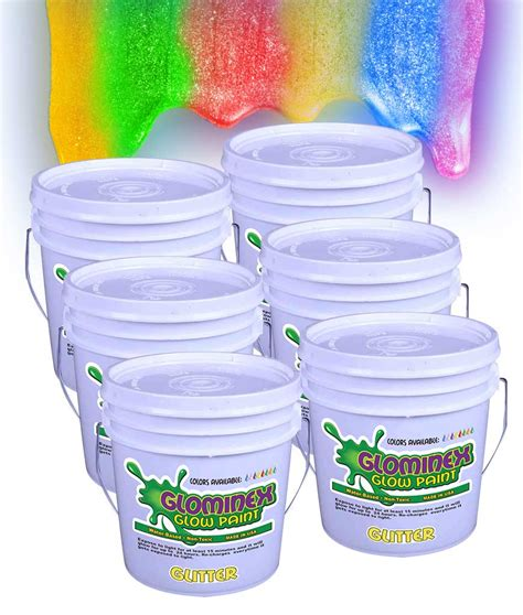 glow in the paint by the gallon glominex glitter glow paint gallons assorted coolglow