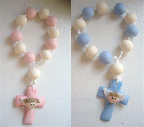 rosarios hechos como manualidades souvenirs para bautismo de ni 209 o originales con materiales