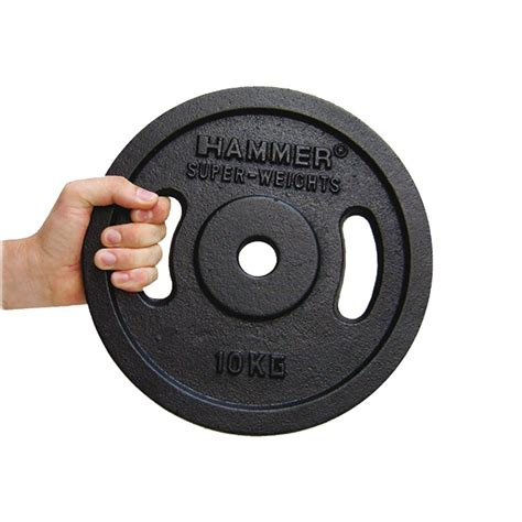 Barbell 5 Kilo Buy Hammer Barbell Plates 2x 5 Kg Black
