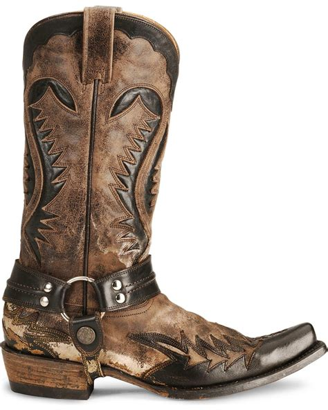 stetson boots for stetson brown harness cowboy boots snip toe country