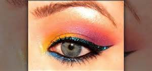 how to apply colorful tropical 80 s eyes with makeup