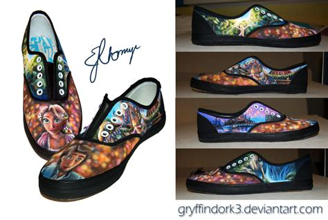 tangled shoes painted ii by gryffindork3 on deviantart