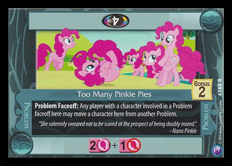 too many pinkie pies | my little pony collectible card