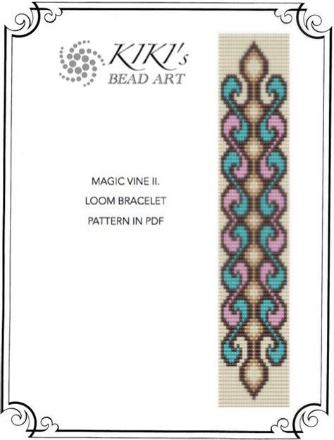 pattern magic pdf download bead loom pattern magic vine swirly loom bracelet