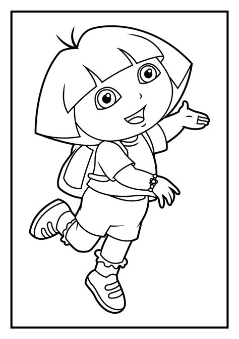 dora coloring pages games coloring pages for free