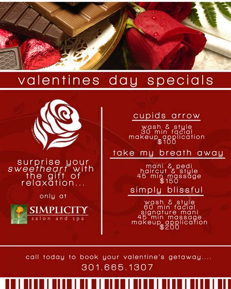valentines spa specials valentines day packages
