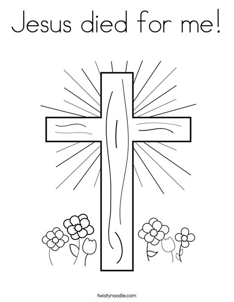 jesus died on cross coloring page jesus died on cross coloring page jesus died for me