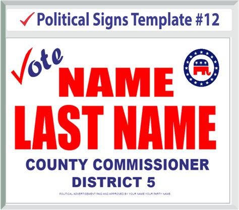 Political Signs Templates Election Caign Template