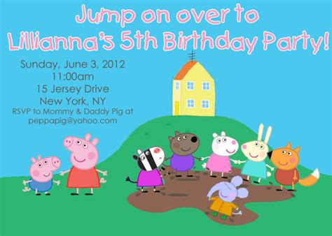peppa pig party invitations theruntime com