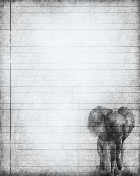 printable paper elephants printable elephant journal page elephant digital stationery